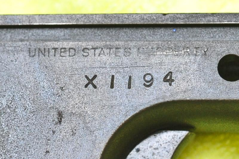 Help Identifying a Colt 1911 with X- serial number
