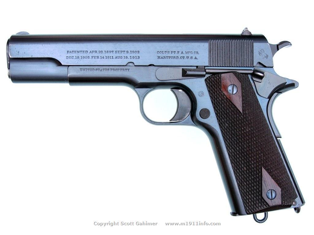 1915 U S Navy Colt M1911