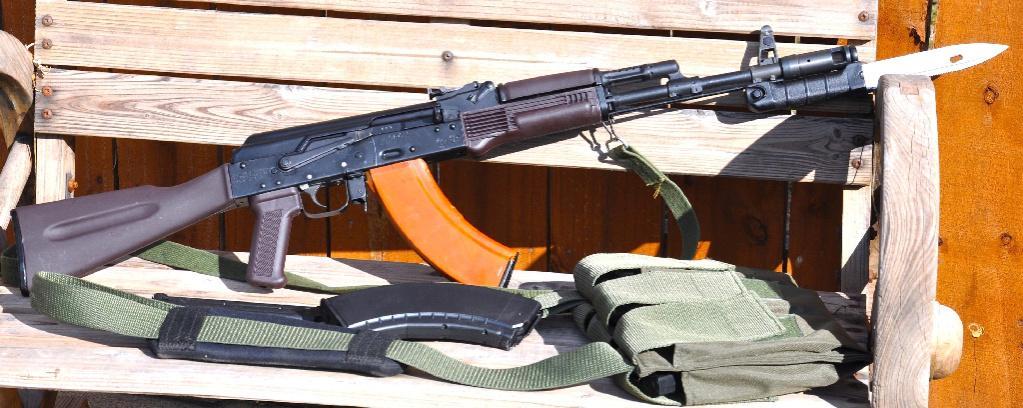 Finished Saiga Retoration: AK74 Cleaning Rod And Izzy Bakelite Magazine  Added.