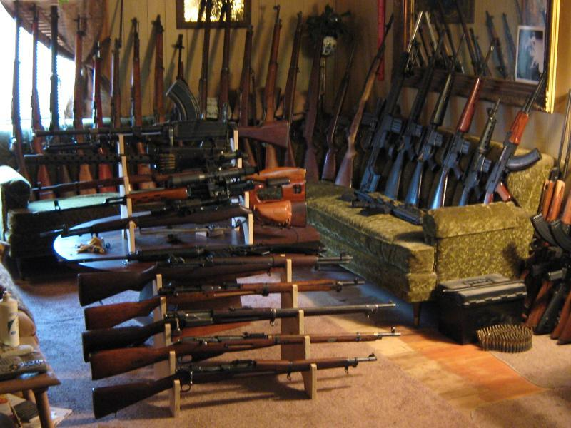 A picture of my current Historical Military Rifle Collection