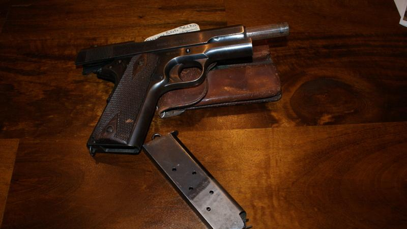 1913 Colt 1911 from the USS Maine (BB-10)