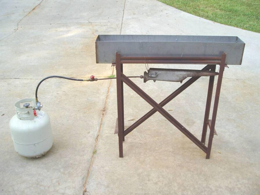 how to make a gas burner out of pipe