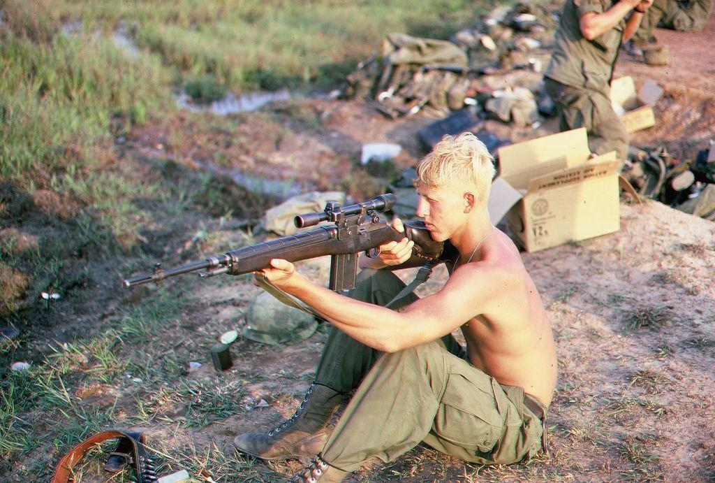 16-085 M14 Picture of the Day M14 Sniper Rifle Usmc