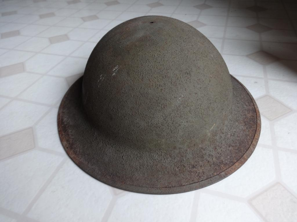 Rare/prototype U S  M1917 helmet, or a fake?